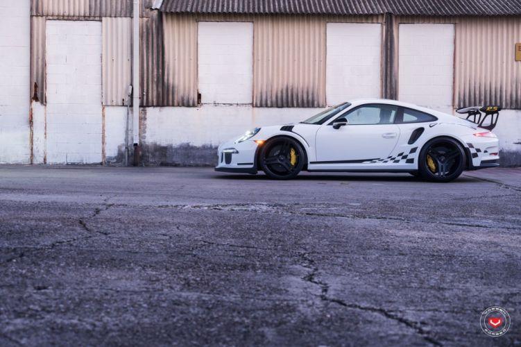 Porshce GT3 RS Vossen wheels cars white wallpaper