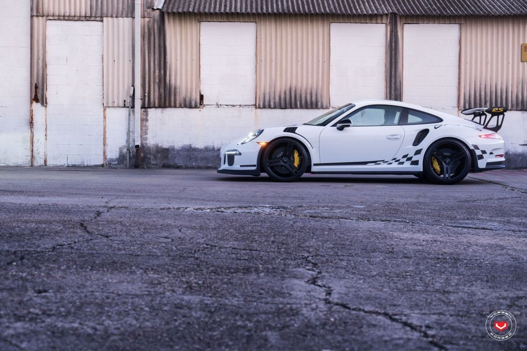 Porshce GT3 RS Vossen wheels cars white wallpaper