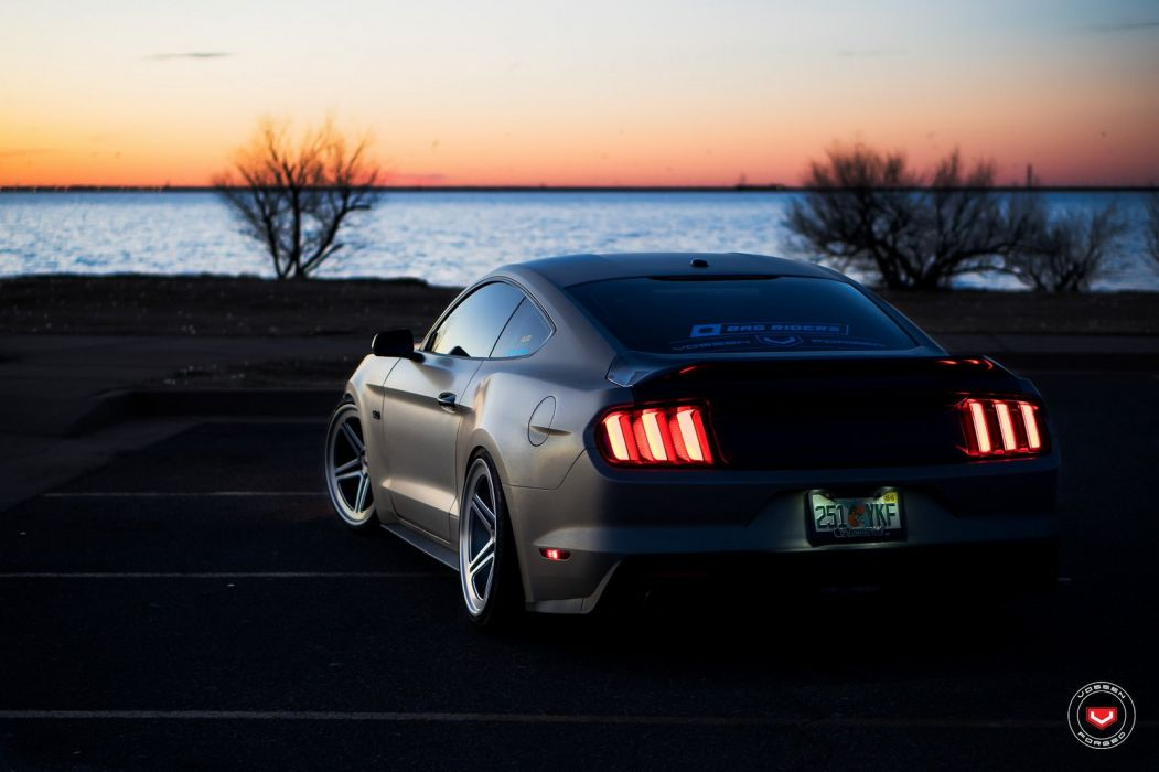 Ford Mustang GT Vossen wheels cars wallpaper