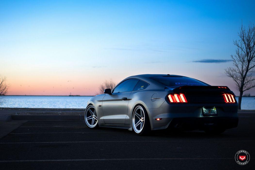 Ford Mustang GT Vossen wheels cars wallpaper