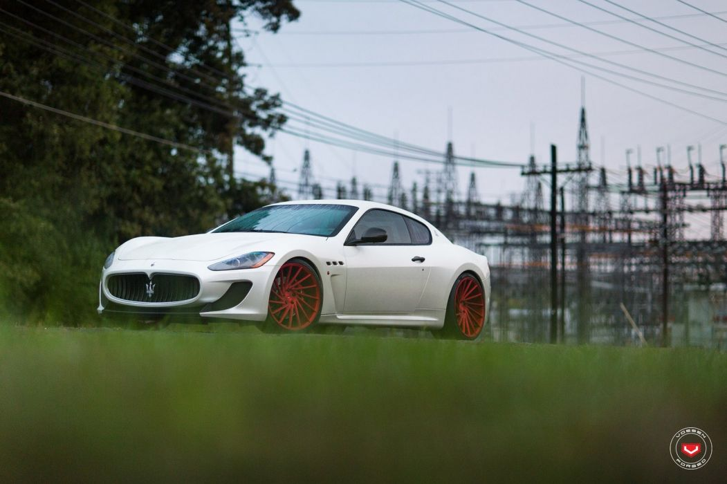 Maserati GranTurismo Vossen wheels cars white wallpaper