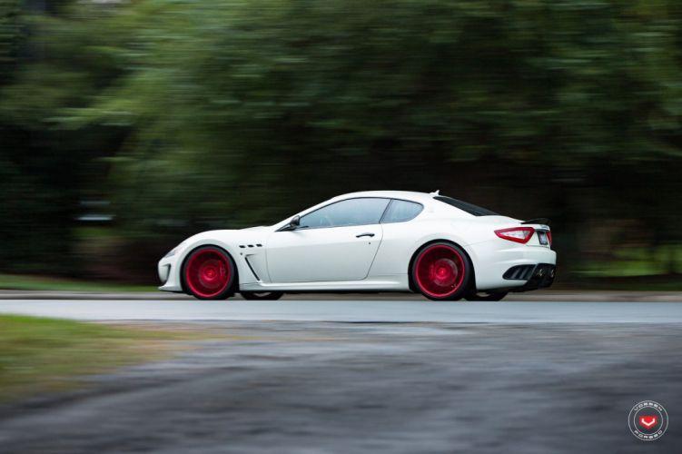 Maserati GranTurismo Vossen wheels cars white wallpaper