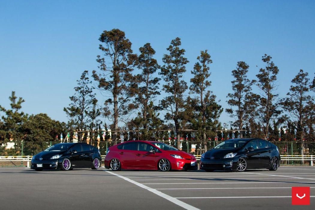Toyota Prius wheels vossen cars hybrid wallpaper