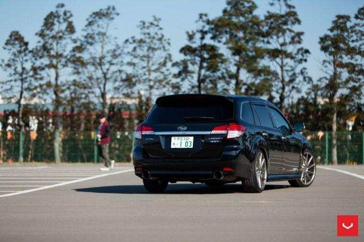 Subaru Legacy Wagon Vossen wheels cars black wallpaper