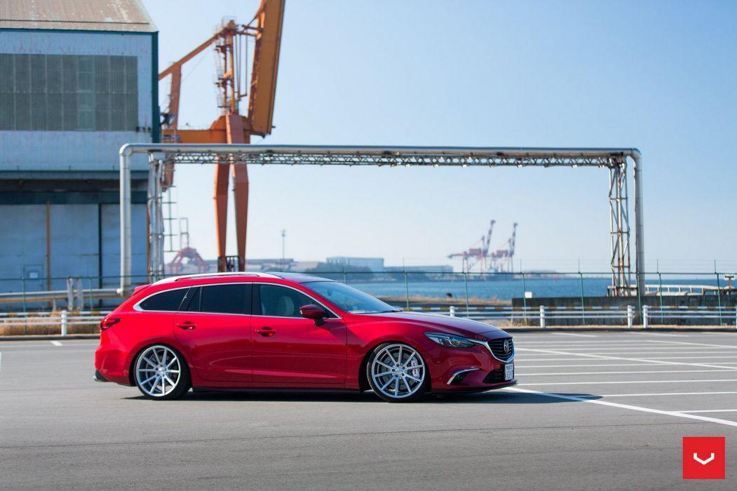 Mazda 6 Atenza Wagon Vossen wheels cars red wallpaper