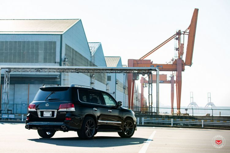 Lexus LX570 Vossen wheels cars suv black wallpaper