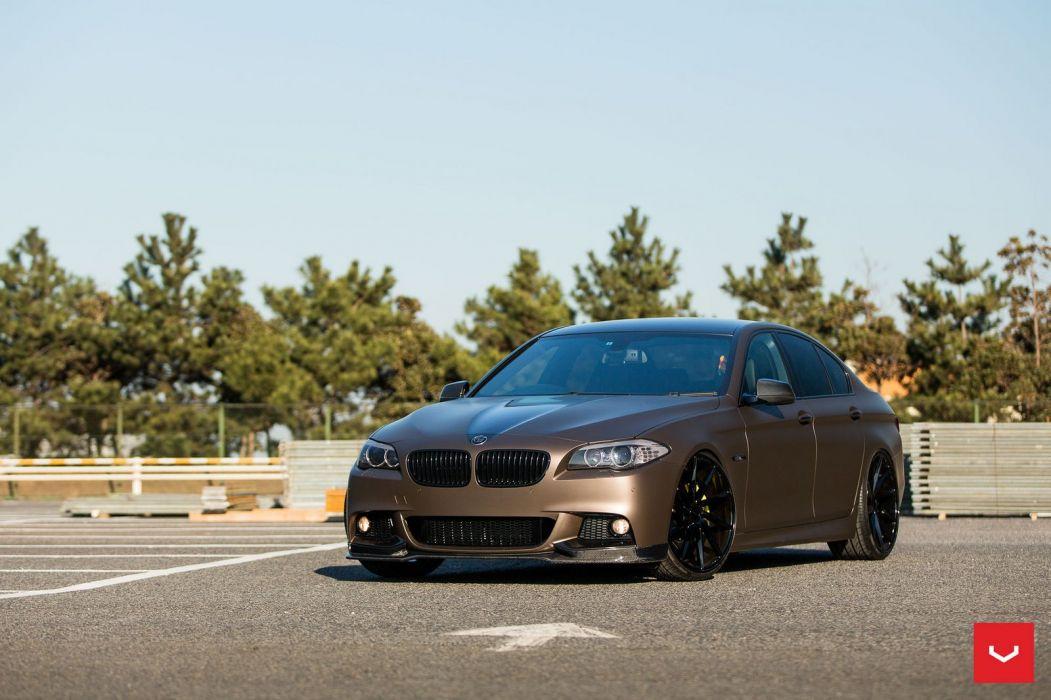 BMW F10 5-Series Vossen wheels cars sedan wallpaper