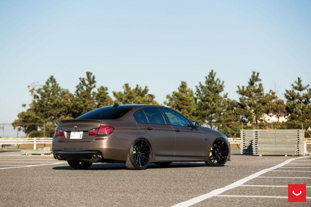 BMW F10 5-Series Vossen wheels cars sedan wallpaper