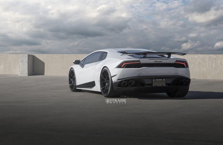 Strasse Wheels Lamborghini Huracan cars white wallpaper