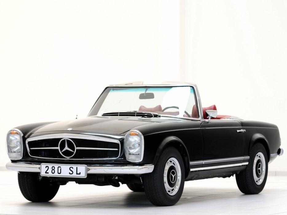 Mercedes Benz 280 SL Worldwide (W113) 1968 retro classic wallpaper