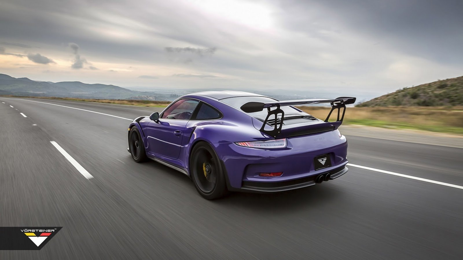 Porsche 911 Gt3 Rs Wallpaper: Purple Vorsteiner Porsche 911 GT3 RS Cars Modified