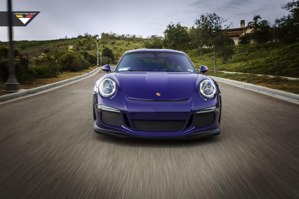Purple Vorsteiner Porsche 911 GT3 RS cars modified wallpaper