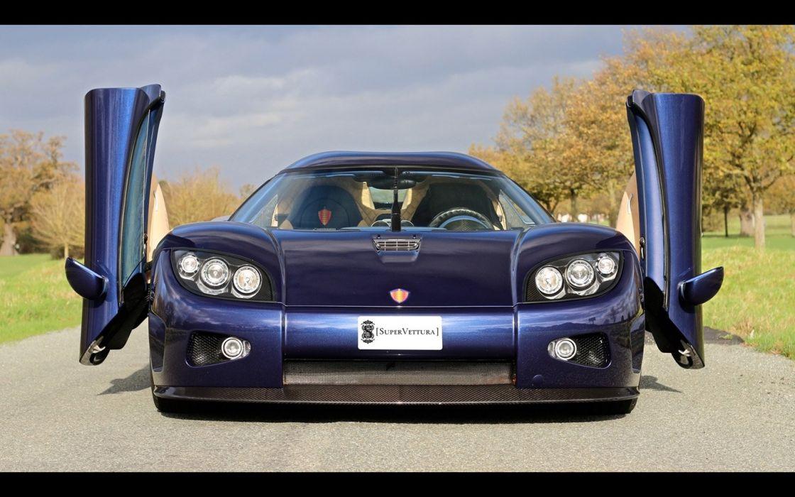 2008 Koenigsegg CCX cars blue supercars wallpaper