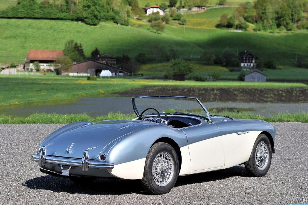 Austin Healey 100 (BN1) cars classic roadster 1953 wallpaper