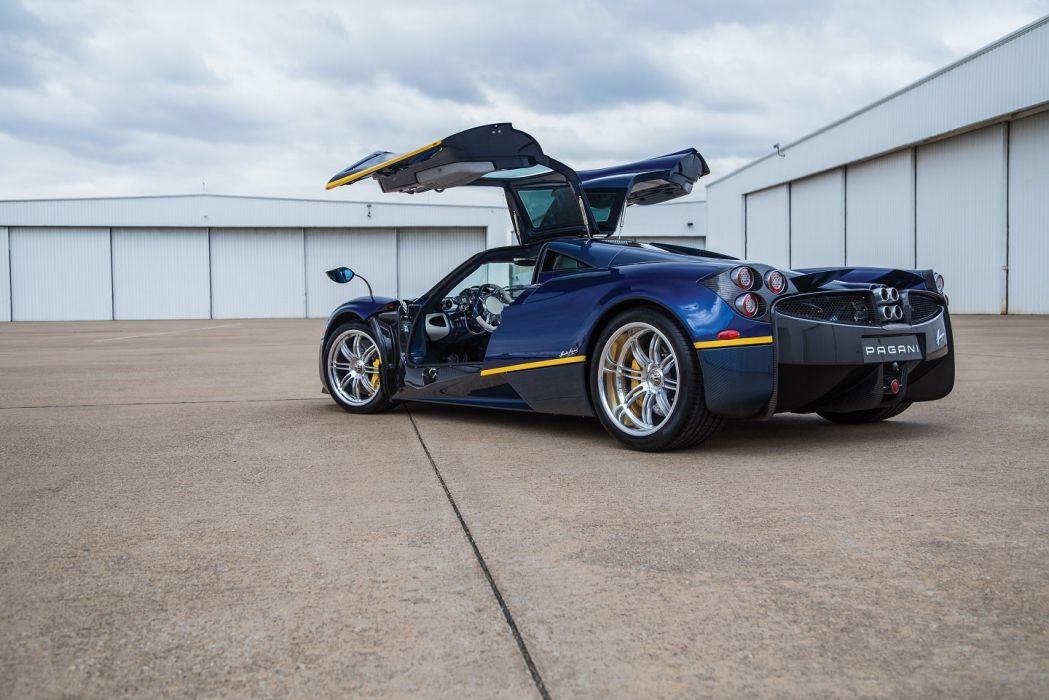 Pagani Huayra US-spec cars supercars blue 2013 wallpaper