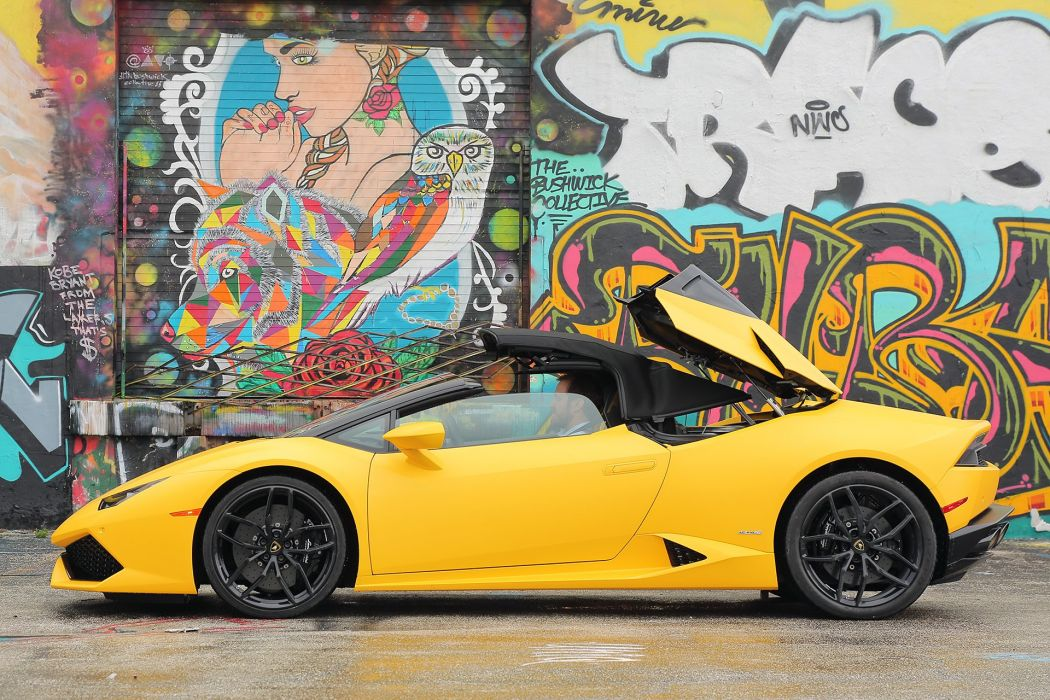 2016 Lamborghini Huracan LP 610-4 Spyder cars yellow wallpaper