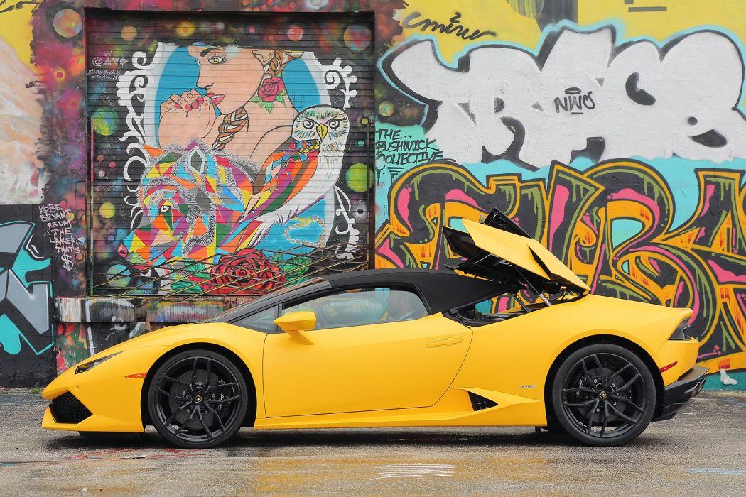 2016 Lamborghini Huracan LP 610-4 Spyder cars yellow wallpaper
