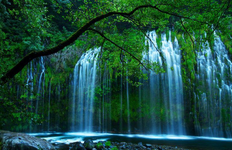 waterfall nature river landscape wallpaper