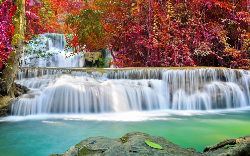 waterfall nature river landscape wallpaper