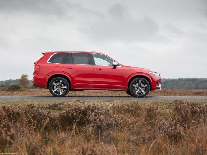 Volvo XC90 R-Design cars suv red 2016 wallpaper