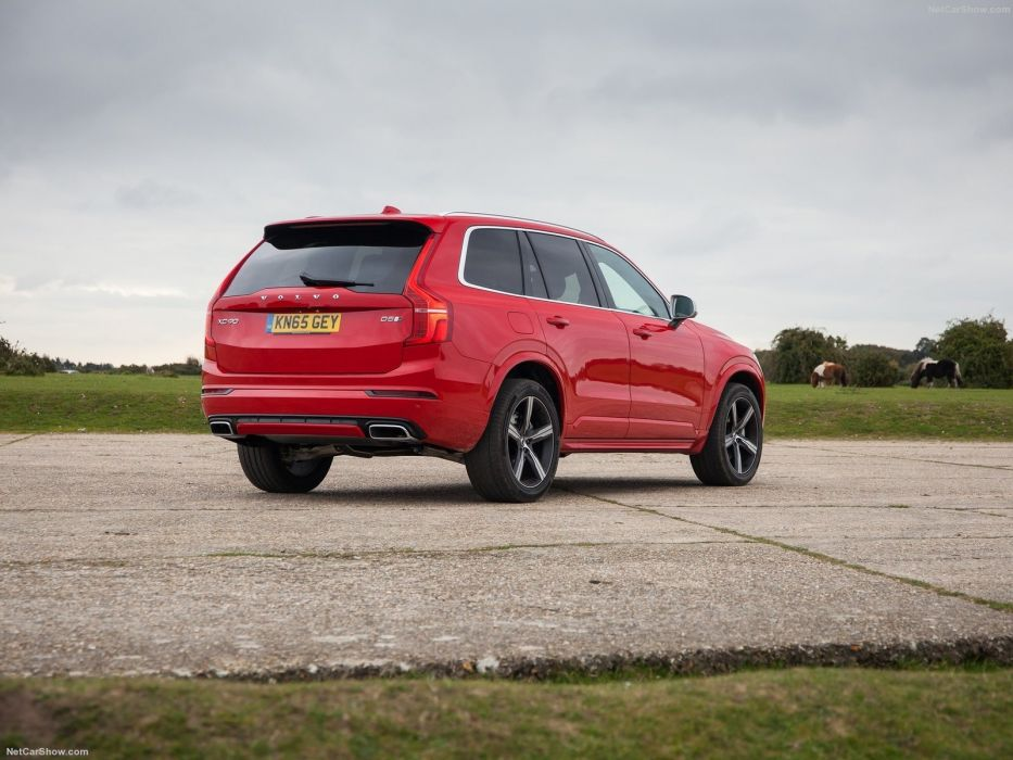 Volvo XC90 R-Design cars suv red 2016 wallpaper