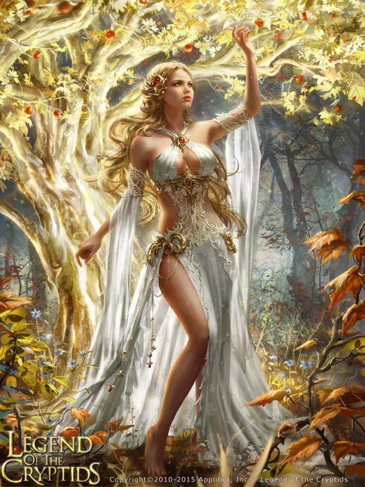 fantasy girl woman beauty beautiful tree dress blonde wallpaper