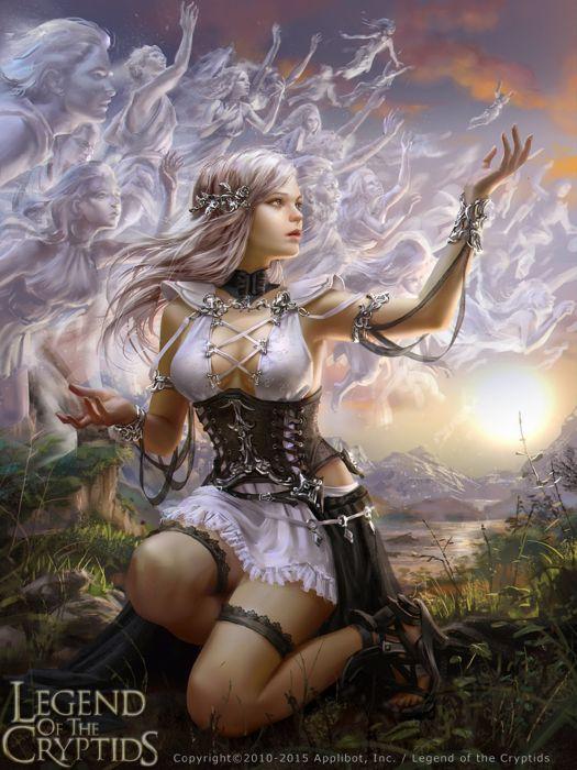 fantasy girl woman beauty beautiful tree dress long hair wallpaper