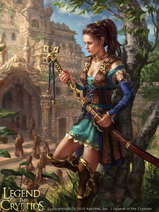 fantasy girl woman beauty beautiful tree dress long hair warrior sword wallpaper