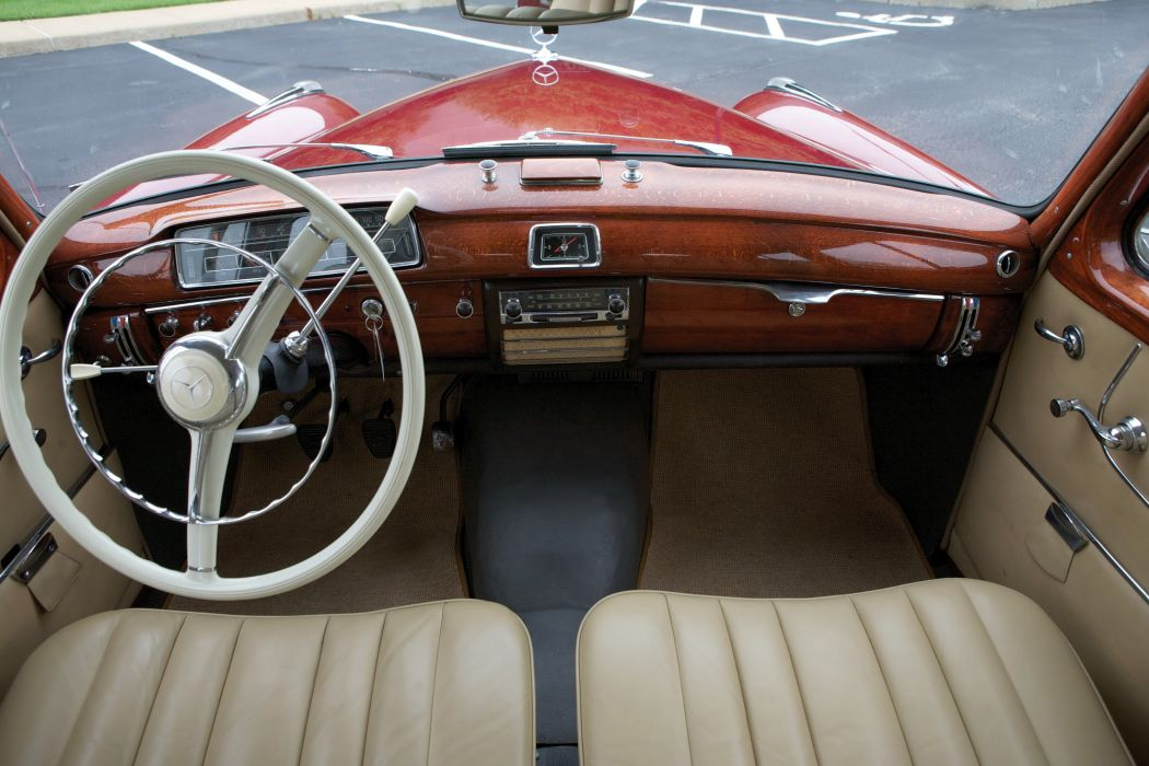 Mercedes Benz 220 E UK-spec LIMOUSINE (W128) cars classic 1958 wallpaper