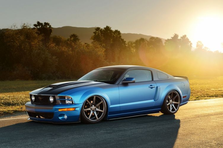2005 Mustang GT ford blue modified cars wallpaper