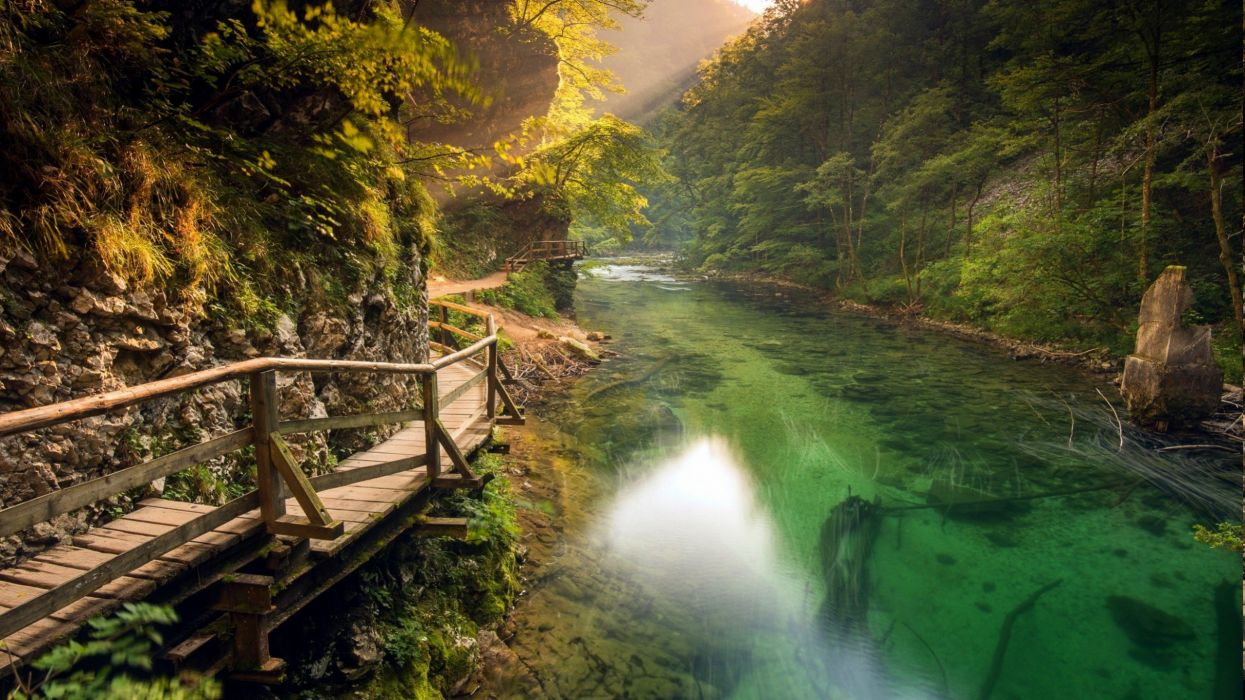 nature river landscape wallpaper