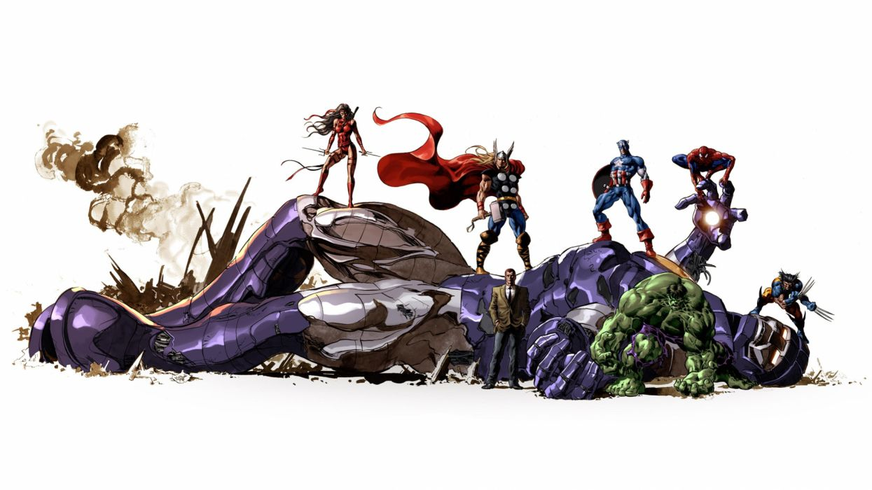 comic super heroes accion wallpaper