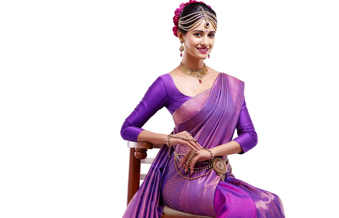 disha patani bollywood actress model girl beautiful brunette pretty cute beauty sexy hot pose face eyes hair lips smile figure indian saree sari wallpaper