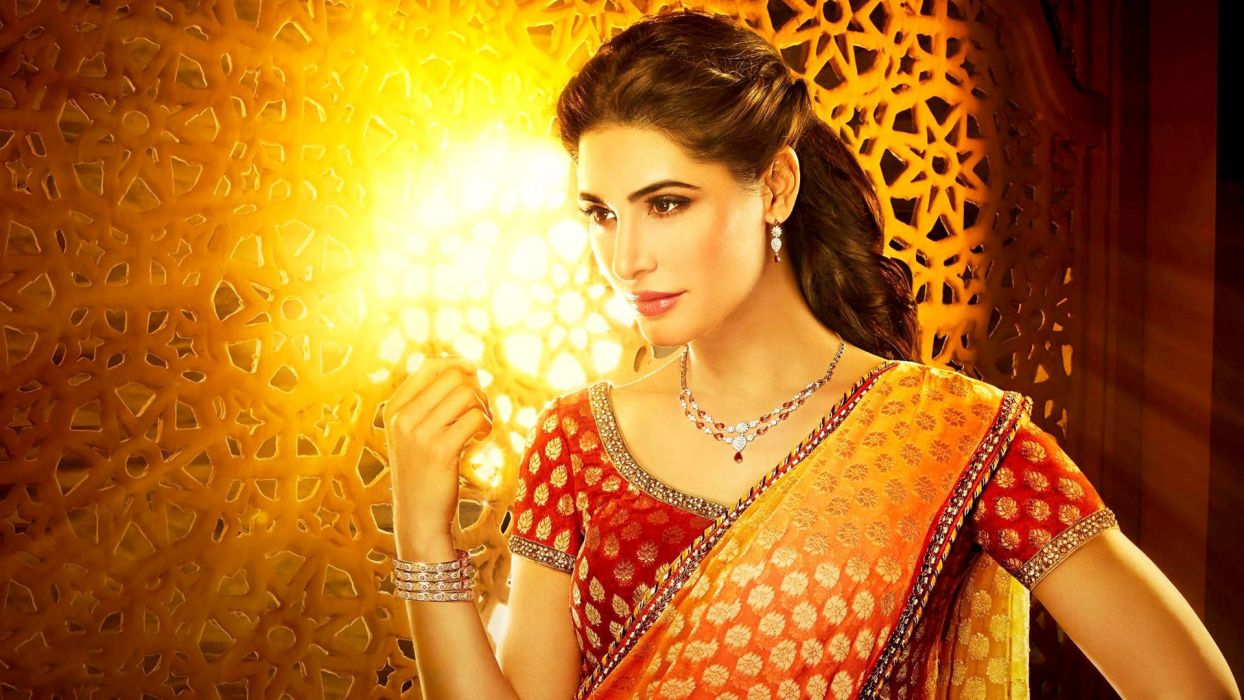 nargis fakhri bollywood actress model girl beautiful brunette pretty cute beauty sexy hot pose face eyes hair lips smile figure indian saree sari wallpaper