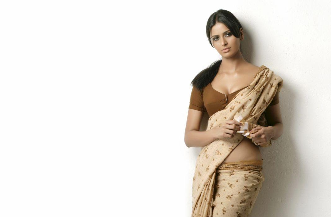 meenakshi dixit bollywood actress model girl beautiful brunette pretty cute beauty sexy hot pose face eyes hair lips smile figure indian saree sari wallpaper