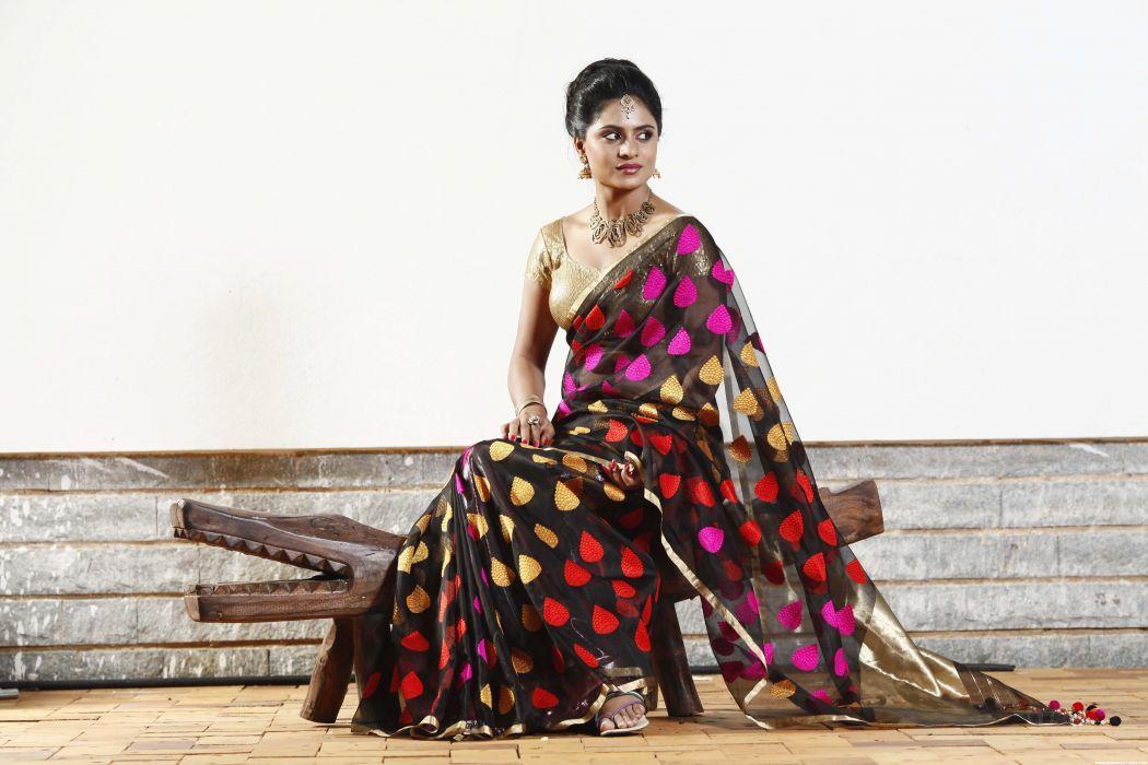 Deepika Das bollywood actress model girl beautiful brunette pretty cute beauty sexy hot pose face eyes hair lips smile figure indian saree sari wallpaper