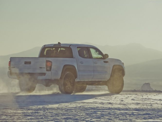 Toyota Tacoma TRD Pro cars truck pickup white 2016 wallpaper