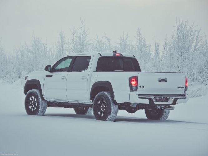 Toyota Tacoma TRD Pro cars truck pickup white 2016 wallpaper