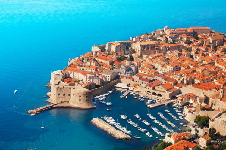 Croatia Houses Coast Marinas Motorboat From above Dubrovnik Cities wallpaper