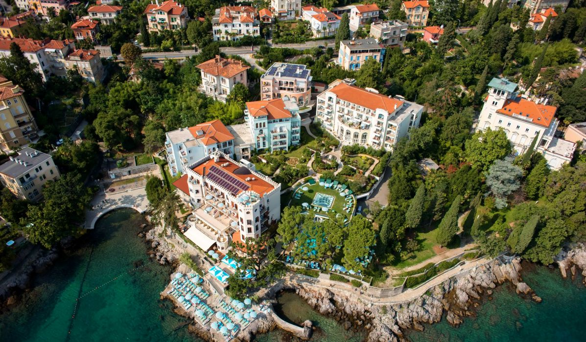 Croatia Houses Rivers From above Opatija Cities wallpaper