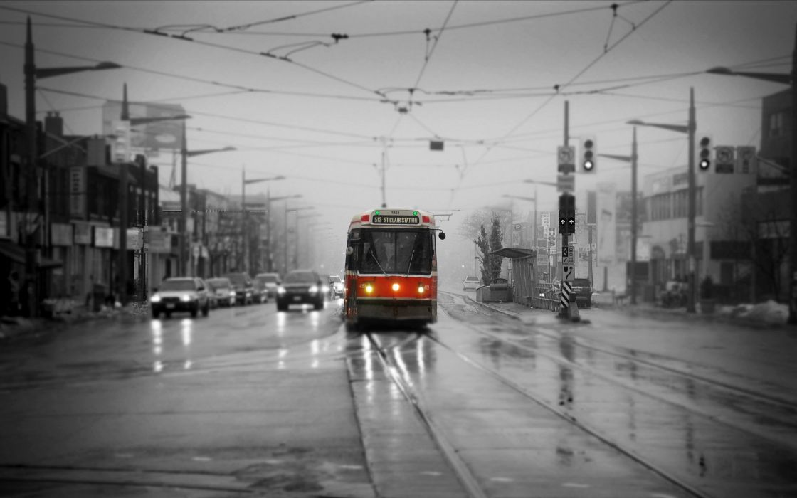 Canada Street Streetcar Toronto St Claire and Bathurst Cities wallpaper