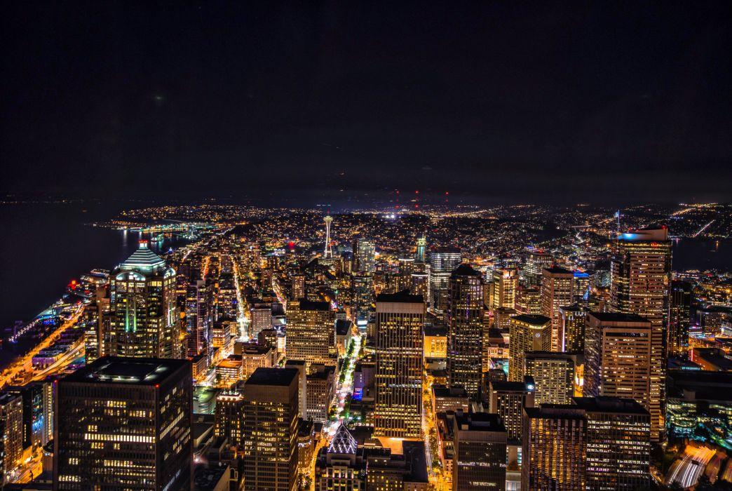 City Lights Seattle wallpaper