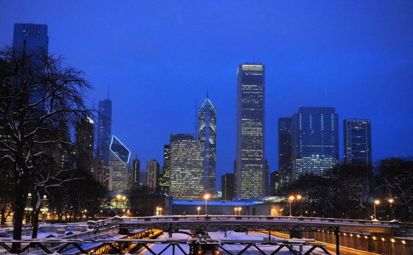 downtown Chicago wallpaper
