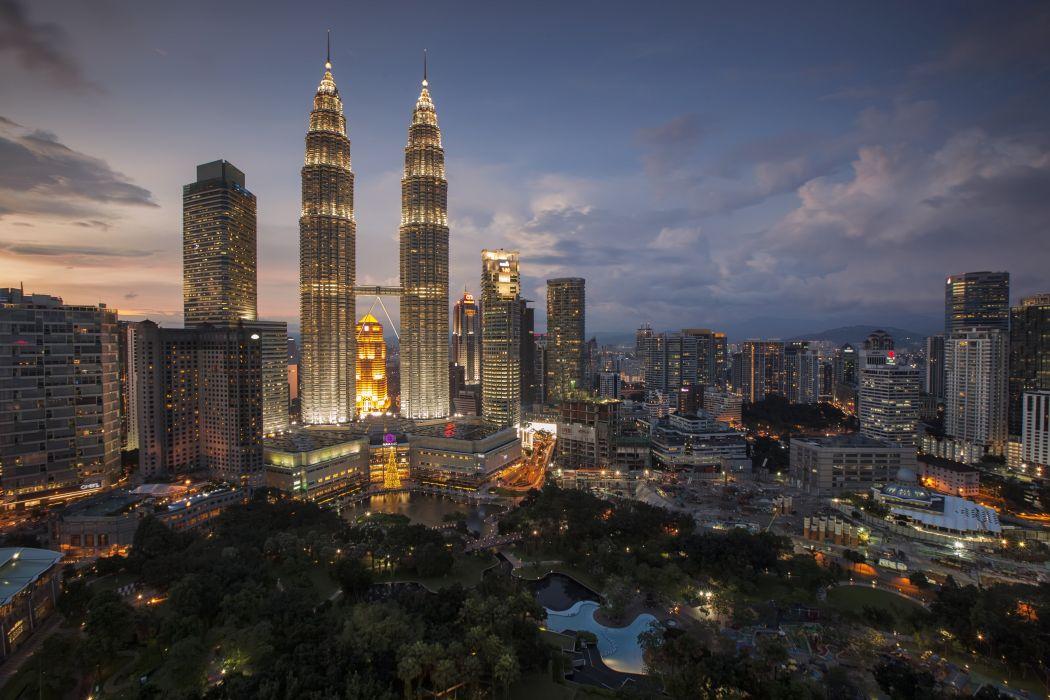 city lights skyline buildings wallpaper