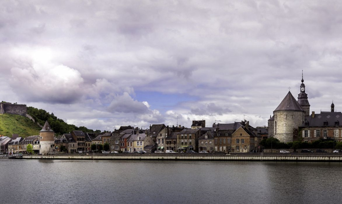 France Houses Rivers Coast Clouds Givet Cities wallpaper