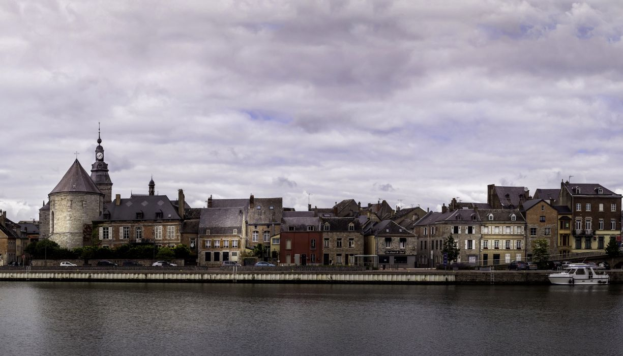 France Houses Rivers Coast Givet Cities wallpaper
