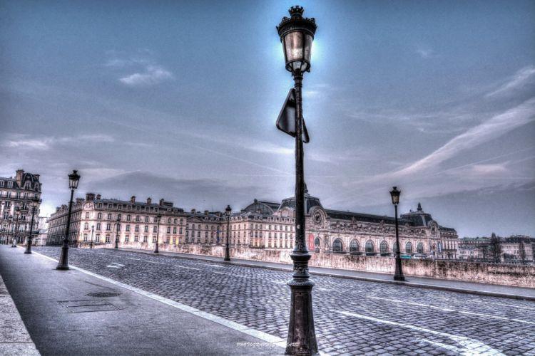 France Houses Roads Sky HDR Paris Street lights Street Cities wallpaper