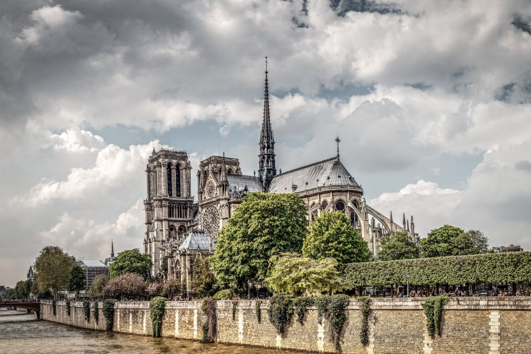 France Rivers Paris Clouds Cities wallpaper