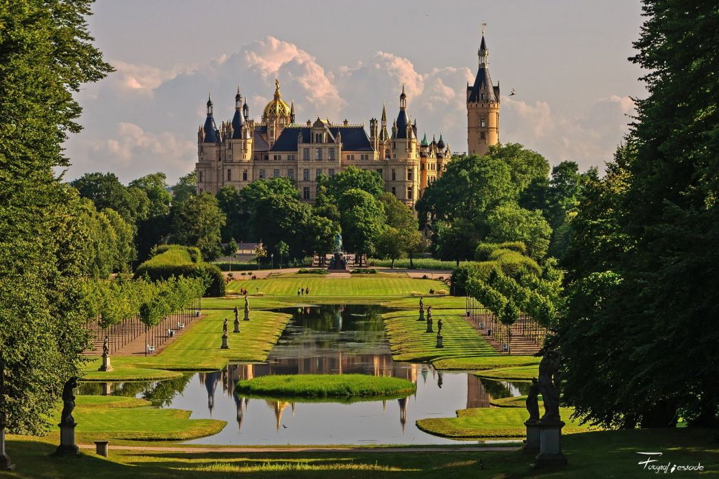 Germany Castles Parks Gardens Schwerin Cities wallpaper