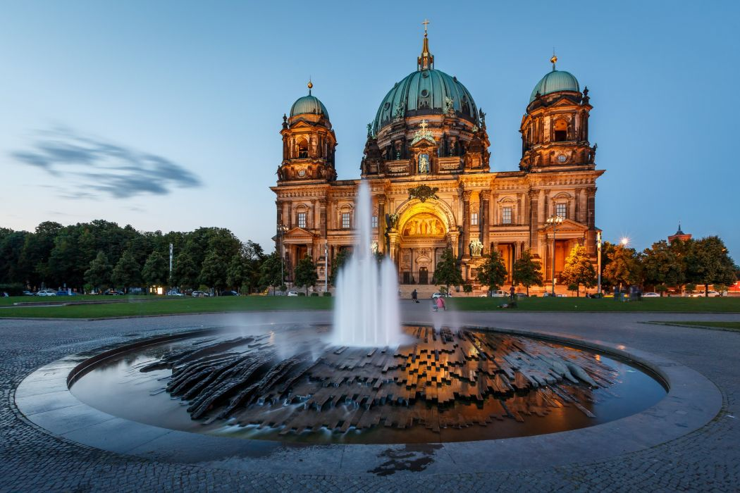Fountains Germany Berlin Berliner Dom Cities wallpaper